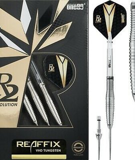 Стрели за стийл дартс One80 Revolution 2 - Reaffix 2.0 VHD Tungsten